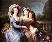 Marquise de Roug with Her Sons Alexis and Adrien