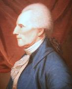 Oil on canvas painting of Richard Henry Lee