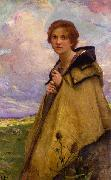 Charles-Amable Lenoir Shepherdess oil painting reproduction