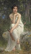 Charles-Amable Lenoir The Flute Player oil painting reproduction