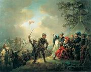 Dannebrog falling from the sky during the Battle of Lyndanisse, June