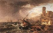 Claude-joseph Vernet Storm with a Shipwreck oil painting