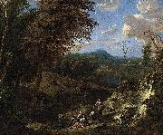 Corneille Huysmans Wooded Hilly Landscape oil painting