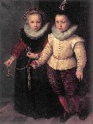 Cornelis Ketel Double Portrait of a Brother and Sister oil painting reproduction