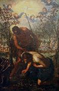 Domenico Tintoretto The Baptism of Christ oil painting reproduction