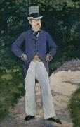 Edouard Manet Portrait of Monsieur Brun oil painting reproduction