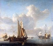 Esaias Van de Velde Ships off the coast oil painting artist