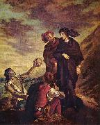 Eugene Delacroix Hamlet und Horatio auf dem Friedhof oil painting reproduction