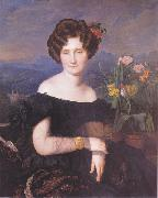 Ferdinand Georg Waldmuller Portrait of Johanna Borckenstein oil painting reproduction