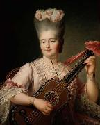 Madame Clotilde playing the guitar