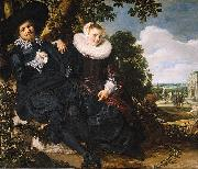 Marriage Portrait of Isaac Massa en Beatrix van der Laen
