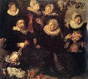 Frans Hals Portrait of an unknown family oil painting reproduction