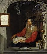 Gabriel Metsu The Apothecary or The Chemist. oil painting reproduction