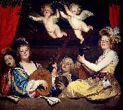 Gerrit van Honthorst The Concert oil painting reproduction