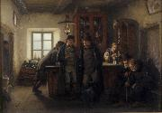 HOFFMANN, Hans Farmers in a Barrelhouse oil painting