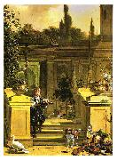 HONDECOETER, Melchior d View of a Terrace oil painting