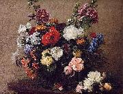 Henri Fantin-Latour Bouquet of Diverse Flowers