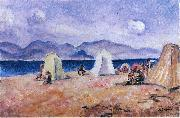 Henri Lebasque Prints On the Beach oil painting