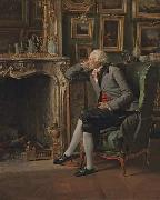 Henri Pierre Danloux The Baron de Besenval in his Study oil painting