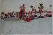 Howard Pyle So the Treasure was Divided oil painting