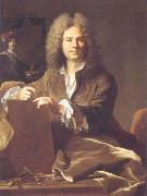 Hyacinthe Rigaud Portrait of Pierre Drevet (1663-1738), French engraver oil painting artist