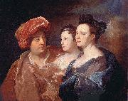 Hyacinthe Rigaud La famille Laffite. oil painting artist