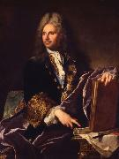 Hyacinthe Rigaud Robert de Cotte oil painting