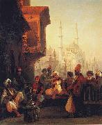 Coffee-house by the Ortakoy Mosque in Constantinople
