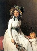 Portrait of Madame Emilie Seriziat and her Son