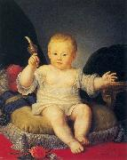 Jean Louis Voille Portrait of Alexander Pawlowitsch as a boy oil painting