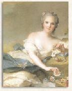 Jean Marc Nattier Anne Henriette of France represented as Flora oil painting reproduction