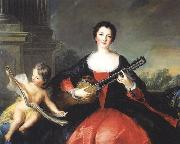 Repro painting of Philippine elisabeth d'Orleans or her sister Louise Anne de Bourbon
