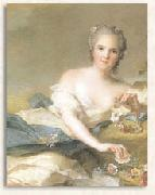 Jjean-Marc nattier Anne Henriette of France represented as Flora oil painting reproduction