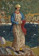 John Augustus Atkinson Woman by a Riverbank oil painting