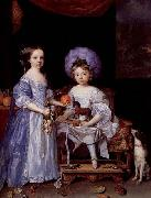 Painting by John Michael Wright of Catherine Cecil and James Cecil,