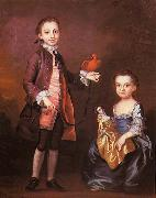 John Wollaston Portrait of Mann Page and his sister Elizabeth oil painting
