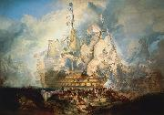 Joseph Mallord William Turner The Battle of Trafalgar oil painting reproduction