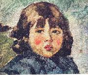 Portrait of the young Andres Luna, the son of Juan Luna, created