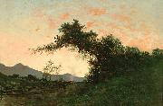 Jules Tavernier Marin Sunset in Back of Petaluma by Jules Tavernier oil painting