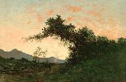 Jules Tavernier Marin Sunset in Back of Petaluma oil painting