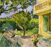Madame Lebasque Reading in the Garden