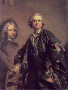 Louis Michel van Loo Self portrait oil painting reproduction