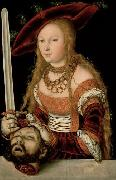 Lucas Cranach Judith with the head of Holofernes oil painting reproduction