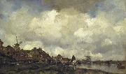 Maris, Jacob Village near Schiedam oil painting