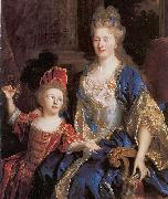 Portrait of Catherine Coustard with her daughter Leonor