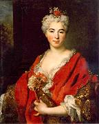 Nicolas de Largilliere Portrait of Marguerite de Largilliere oil painting artist