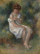 Seated Girl in Landscape