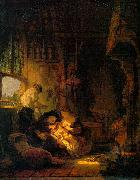 Rembrandt van rijn Holy Family oil painting reproduction