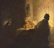 Rembrandt van rijn The Supper at Emmaus oil painting reproduction