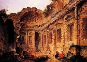 Interior of the Temple of Diana at Nimes
